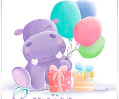 Бегемот с воздушными шариками