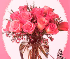 Гифка с розами на день рождения